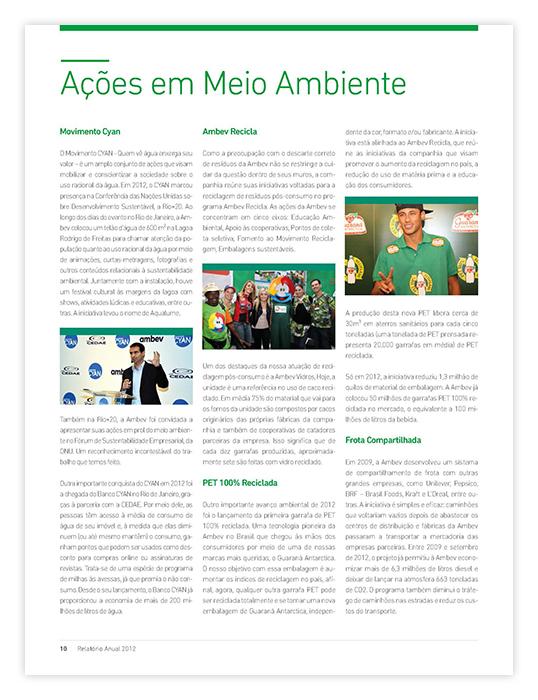 Relatório Anual Ambev 2012