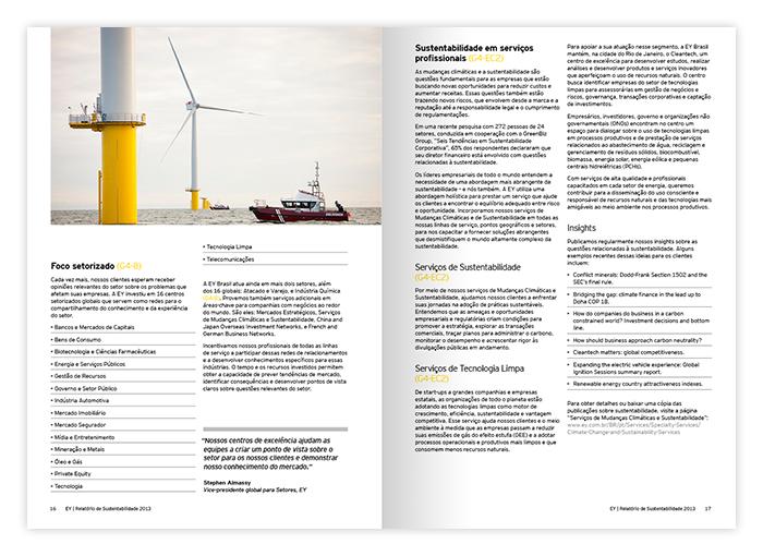 Relatório de Sustentabilidade 2013 EY Brasil - 01