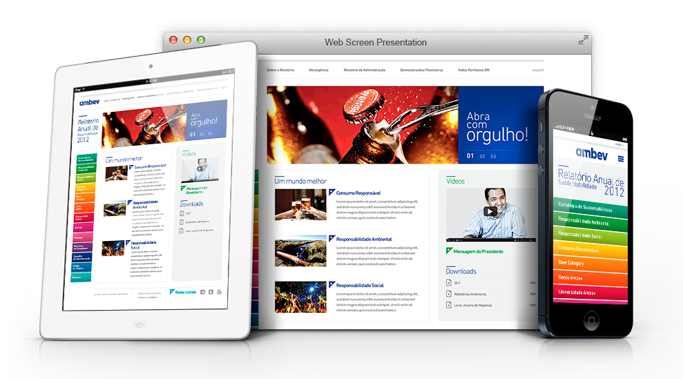 Site multiplatarforma do Relatório Anual 2012